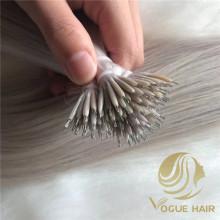 Russian virgin nano ring human hair extensions