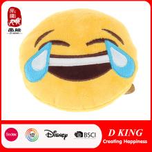 En71 certificado de peluche relleno emoji cojín para niños