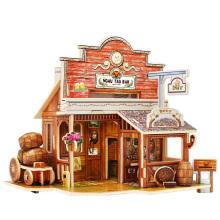 Brinquedos Collectibles da madeira para casas globais-Barra americana