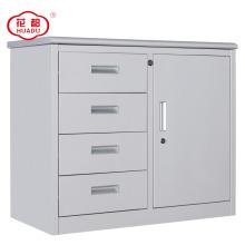 Luoyang huadu half height metal swing door file cabinet with 4 drawers