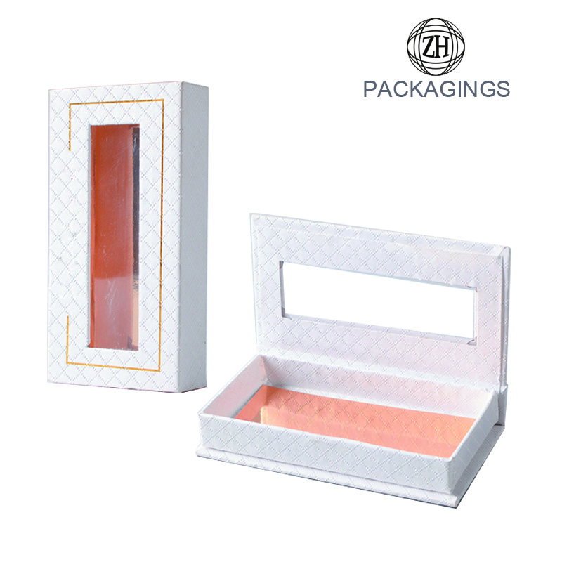 False eyelash packaging box window box for eyelash