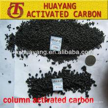 Valor de iodo 900mg / g 4.0mm carvão com base em carvão ativado