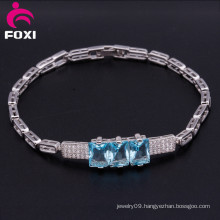 18 K Gold / White Gold Plated Inlay Zircon Cubic Bracelet