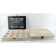 Caixa de Couture nova do copo de madeira com grades