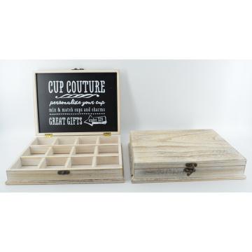 Nouvelle boîte en Coupe en bois avec des grilles