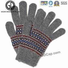 Gants de tricot colorés acryliques à la main à la mode populaires à la main
