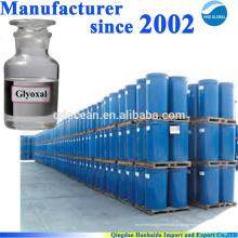 Fornecimento de fábrica de alta qualidade glioxal 40% 107-22-2 com melhor preço !!