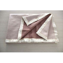 wool bed throws blankets with hemmed edges