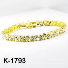 El micr3ofono de plata de la manera pavimenta las pulseras de la CZ (K-1793. JPG)