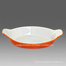 Customized Color Ceramic Bakeware Pan
