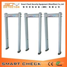 6 Zones Cylindrical Walk Through Metal Detector Body Scanner Security Detector