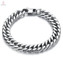 Indian Men New Cheap Design Slave Solid Gold Chain Bracelet, Mexican Saudi Arabia Jewelry White Gold Chain Bracelet