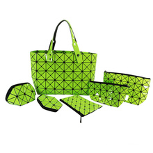 Hot Sale Magic Cube Luxury Golden Cosmetic Bag for Women