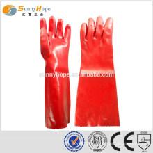 Sunnyhope vermelho impermeável luvas de trabalho de inverno