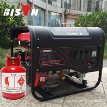 BISON (CHINA) Gerador de gás a eletricidade Taizhou 5KW com refrigeração a ar