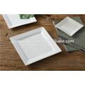Competição competitiva de porcelana branca quadrada e placa retangular conjunto