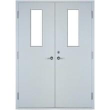 Double fire exit doors