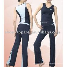 Vente chaude plus la taille des vêtements de yoga 2014