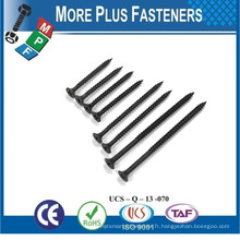 Fabriqué à Taiwan Phillips Bugle Head Drywall Screw Sharp Point et Self Drilling Point Grey Phosphate Bright Zinc plaqué HDG