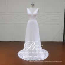 XF16117 estilos de boho elegantes del vestido de boda de la gasa de la alta calidad de los vestidos de boda para las mujeres