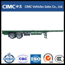 Cimc 40FT 2 Axles Flatbed Trailer with Bogie Suspension