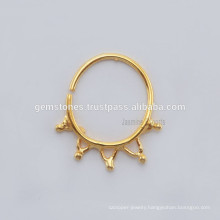 Wholesale Gold Plated Indian Nose Ring, 925 Sterling Silver Gold Plated Nose Rings Body Jewelry Suppliers