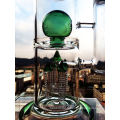 Green Ball Perc Smoking Pipe Enjoylife Hbking Glass Water Piper Rockect Inline Perc Borosilicate Smoking Pipe