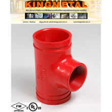 UL Approved 12X6 Grooved Coupling Threaded Tee for Fire Pipe.