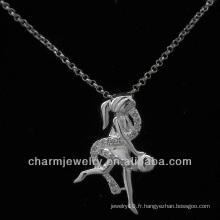 Vente chaude ange 925 bijoux en argent sterling pavé cz pendentif PSS-004