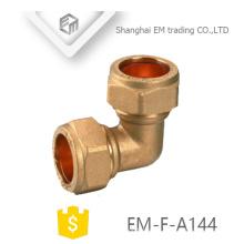 EM-F-A144 Latón conector rápido codo de compresión pex tubo de conexión de tubo