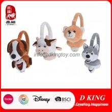 Brinquedo macio popular dos earmuffs do luxuoso da cabeça animal decorativa do bicho de pelúcia