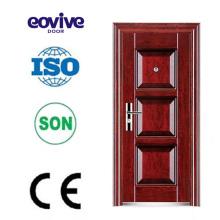 Master diseño alta calidad calor transferencia metal y vidrio puertas de entrada