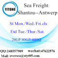 Shantou Port Sea Freight Shipping À Anvers