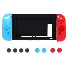 11 em 1 estojo de borracha de silicone para Nintend Switch NS NX Console capa de pele protetora com capa de alças Joy-Con Stick