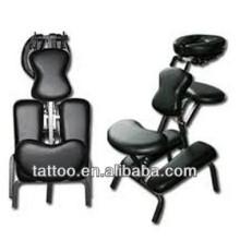 Cama de tatuagem tatuagem preto ajustável cadeira