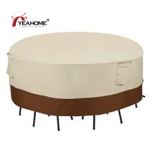 100% wasserdichter Anti-UV-Rundtisch und Stühle für den Außenbereich Möbelbezug