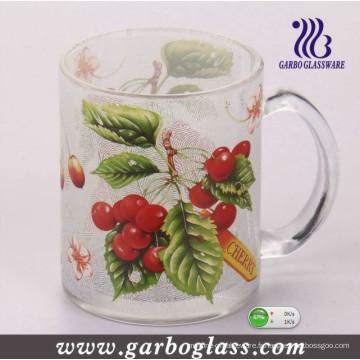 Tasse en verre avec décalque et verrerie et tasse colorée (GB094412)