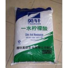 2015 venta caliente ácido cítrico monohidrato grado alimentario proveedor