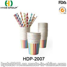 8 oz copo de papel descartável de café quente para festa de aniversário (HDP-2007)