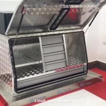 Высококачественные двойные Т-образные замки из полированного алюминия, шахматный ящик для инструментов
