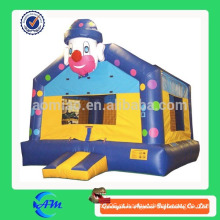 Palhaço engraçado salto inflável hounse castelo bouncy inflável saltar casa