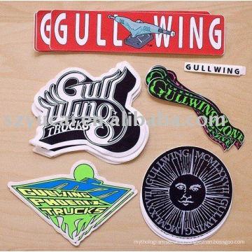 customized waterproof die cut stickers