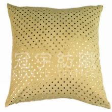 Tecido de camurça bronzeada colado com tricô para tecido de almofada