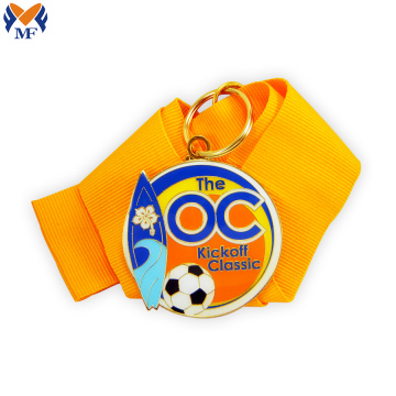 Medalla de fútbol de metal personalizada a granel con logotipo personalizado