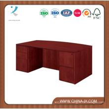 Bow Front Executive Schreibtisch mit zwei abschließbaren Sockeln