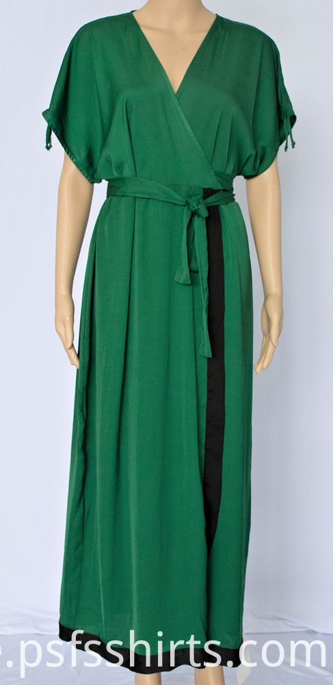 Women V-neck Long Dress