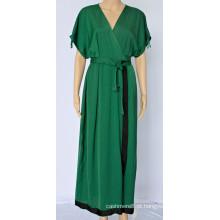 Vestido feminino Temperament com decote em V