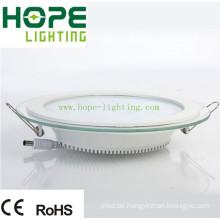 15W Round LED Panel Licht mit Glas