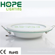 15W Round LED Panel Light with Glass