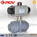 válvula de esfera plástica pneumática do pvc